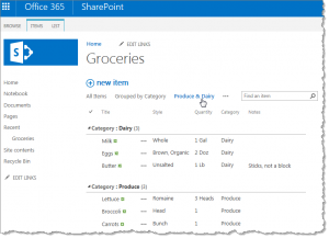 Another filtered view on a SharePoint list